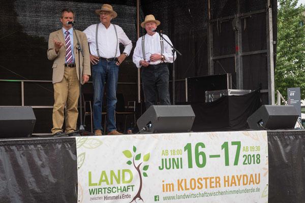 Pfarrer Dierk Glitzenhirn (Evangelisches Forum Schwalm-Eder), Volker Papenhagen , Herbert Thomas (beide: Historischer Maschinenring Mittleres Fuldatal)