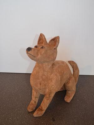 Hund (Buche, 30 cm, 2015)