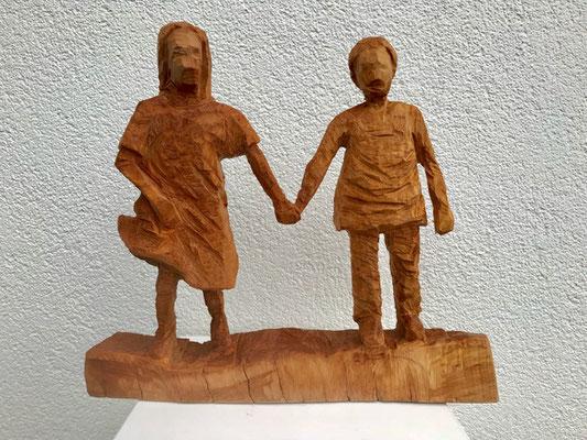Paar 2 (Birne, 31 cm, 2018)