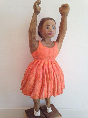 Junges Mädchen (Eiche, 95 cm, 2015)