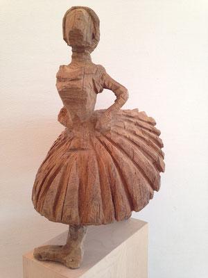 Kleine Tänzerin, nach Degas (Eiche, 61 cm, 2012)