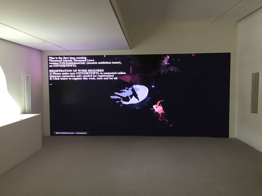 LED Wand Screen Silicon-Core Peony 2.6 Ausstellung Exhibition Ian Cheng at Espace Louis Vuitton München Munich from April 2017