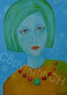 Die Frau mit der Perlenkette 70 / 100 (verk.)
