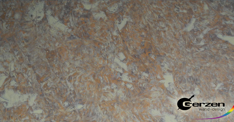 Marmortechnik in Sandtönen von GERZEN wand-design