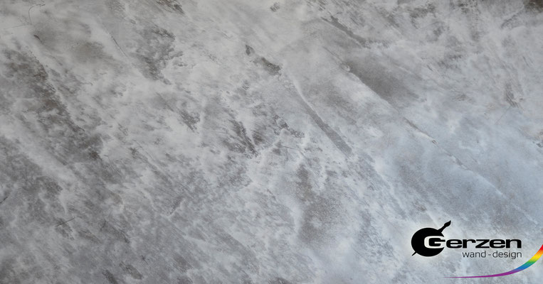 Marmortechnik in Silber-Grau