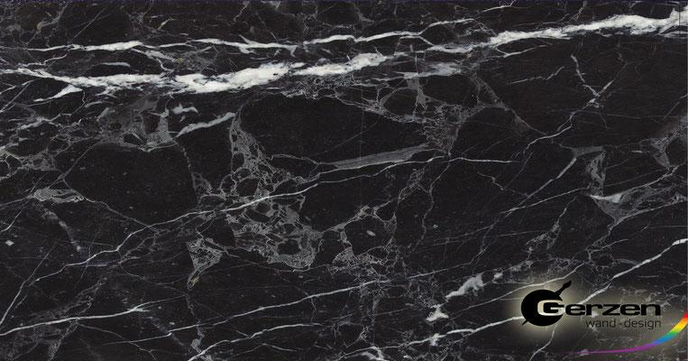 Marmortechnik in Schwarz - Schwarze Perle von GERZEN wand-design