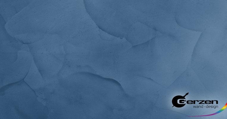 Lasurtechnik in Blau von GERZEN wand-design