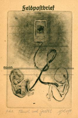 Hansel und Gretel-cm.10x15-Puntasecca su zinco-p.d.s.-2017