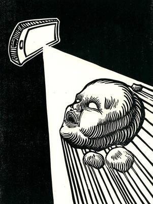 """""""E la luce fu""""-Xilografia-200x150mm-2019"""