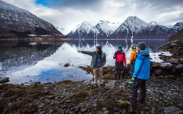 Sverre hat probiert uns das Fjordfischen beuzubringen ;-)
