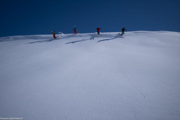 und weil das Gipfelkar so schön gestaubt hat noch ein zweites Mal rauf auf die Gipfelwechte ;-)