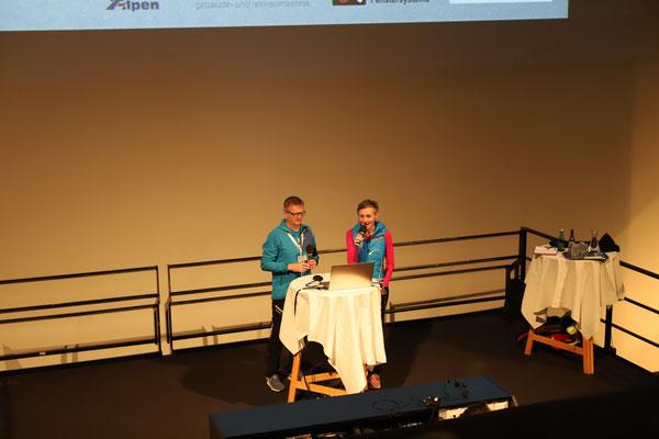 Petra und Egbert moderierten den Weißen Rausch und lieferten zwei Beiträge, die Chronolotour und Sunnmore Alps.