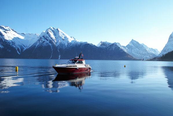 Das Boot Baltasar kommt uns abholen.