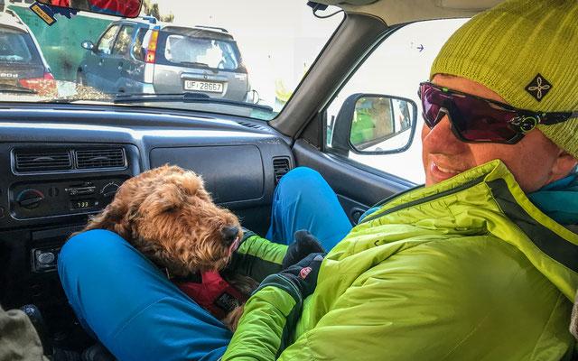 Michaels neuer Freund Rando - Sverres Hund.