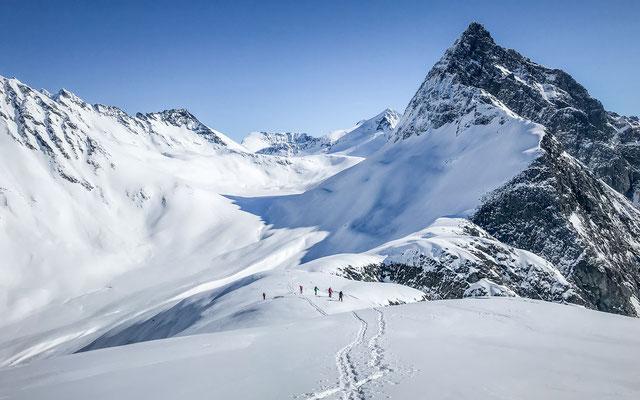 letzter Anstieg auf den Gipfel des Maudekollen.