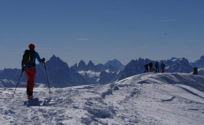 Die letzten Meter zum Gipfel des Rothlaners.
