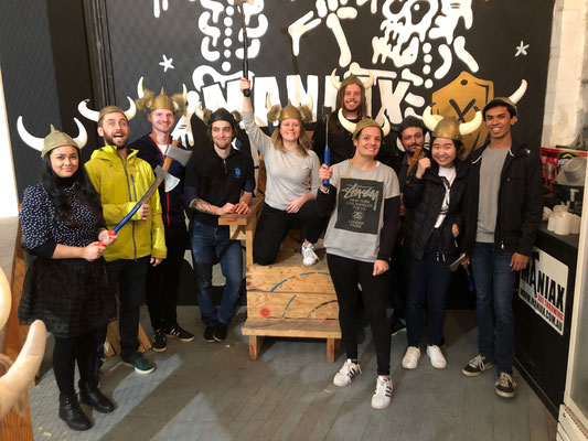 Axe throwing competition / Honours farewell 2019