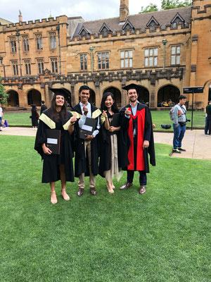 Amanda, Carly and Parathan graduation 13 Dec 2019
