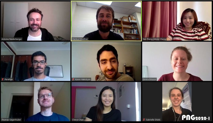 Group picture via Zoom during COVID (semester 1 2020)