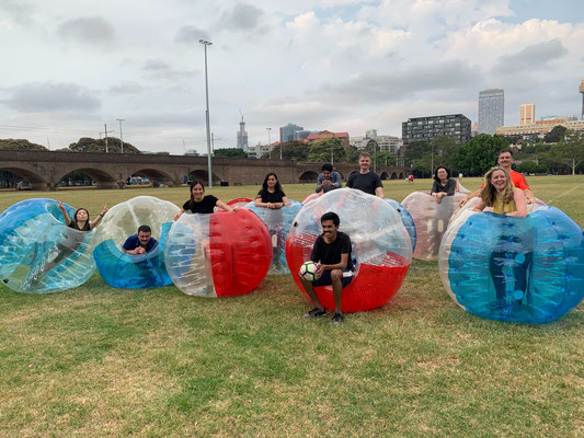 2019 End of the Year party (Bubble soccer)