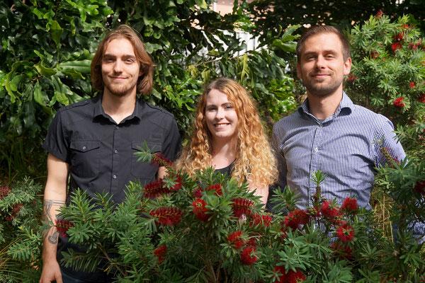 Bottlebrush co-author picture, Theo, Clare, Markus, Oct 2017