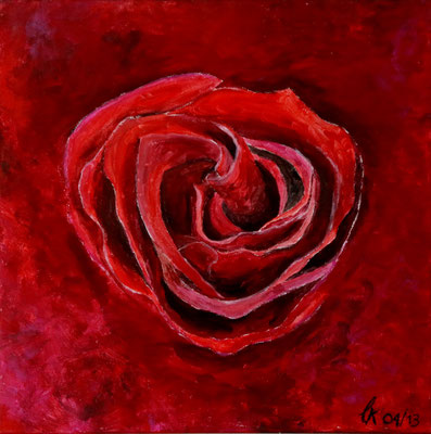 Vaters Rose - Acryl 50x50 (2013)