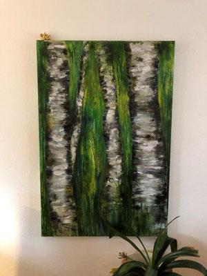 Im Wald - Acryl 100 x 150 x 4 cm (2019)
