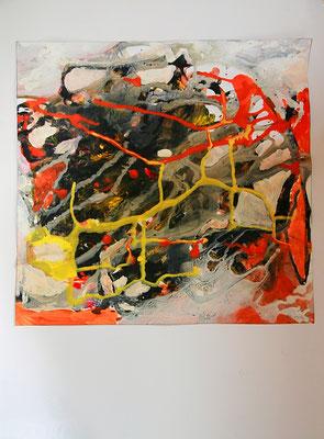 Zufall - Gouache und Kreide (2016)