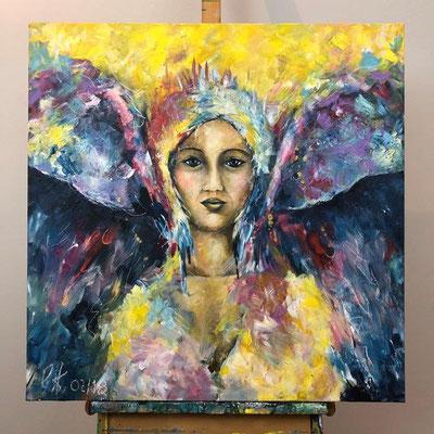 Der Engel der Veränderung - Acryl 80 x 80 x 4 cm (2017-2018)