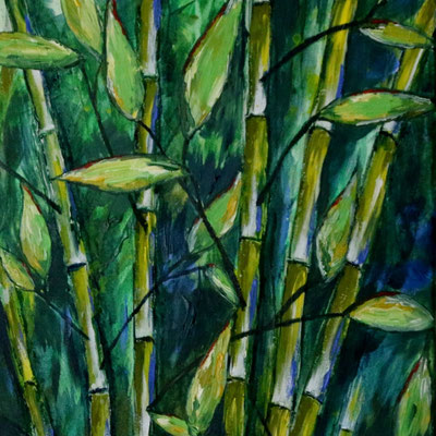 Wilder Bambus - Acryl (2017)
