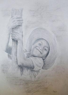 Lachender Junge - Bleistift (1995)