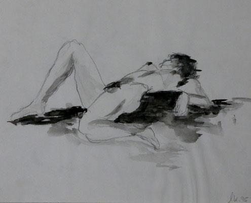 Akt - Bleistift, Aquarell (1995)