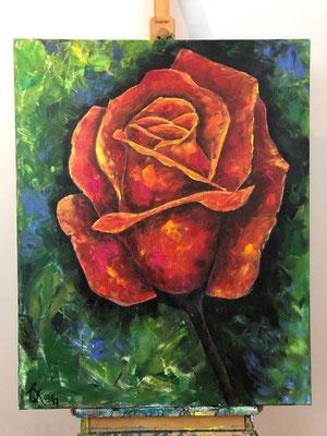 Friedensrose - Acryl 80 x 100 x 4 cm (2017)