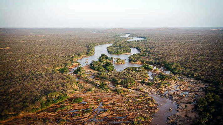 Vista aerea del Kora National Park