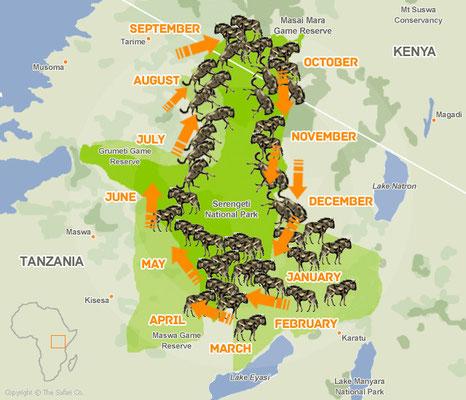 Mappa delle grandi migrazioni