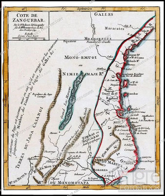 Costa di Zanguebar 1749
