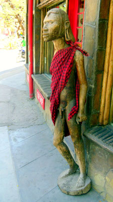L'unico autentico Maasai in Malindi.