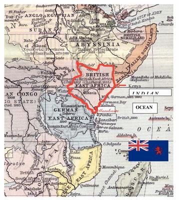 Mappa della British East Africa