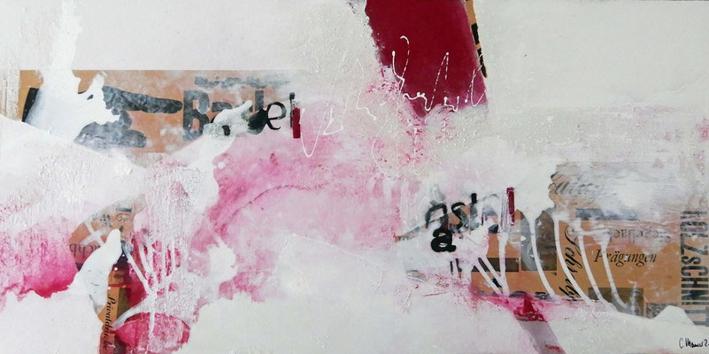 Dahin,  50 x 100 XL, Acrylcollage