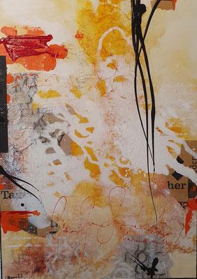 Fragmente 2, 50 x 70 XL, Acrylcollage