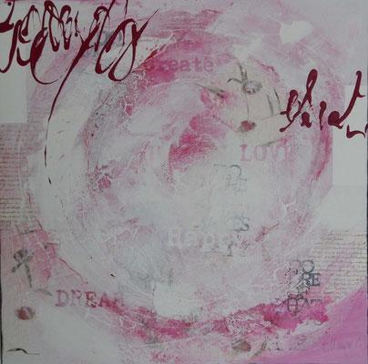 Equilibrium, 80 x 80 XL, Acrylcollage