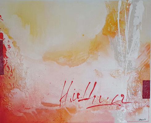 Hoffnung, 80 x 100 XL, 2.7 kg, Acrylcollage