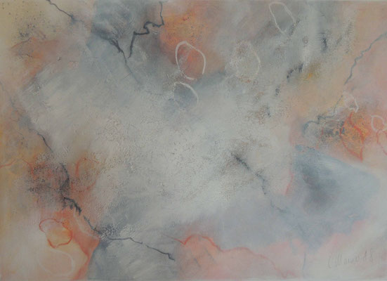 White orange dream, 50x70, Acryl