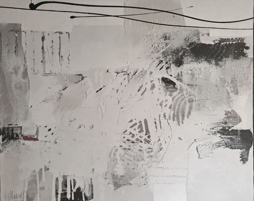 Spuren, 80x100 XL, Acrylcollage