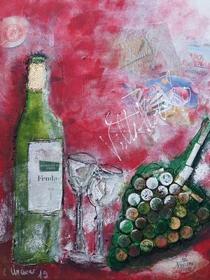 Ohne Titel, 40x60, Acrylcollage, Verkauft