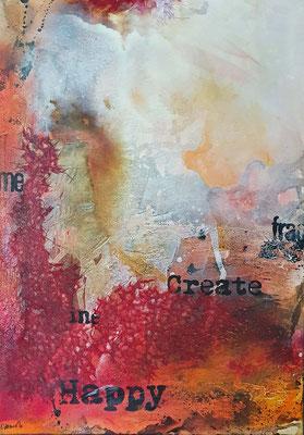 Fragmente 1, 50 x 70 XL, Acrylcollage