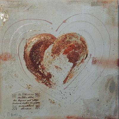 Herz, 2017.3, 30x30, Acrylcollage