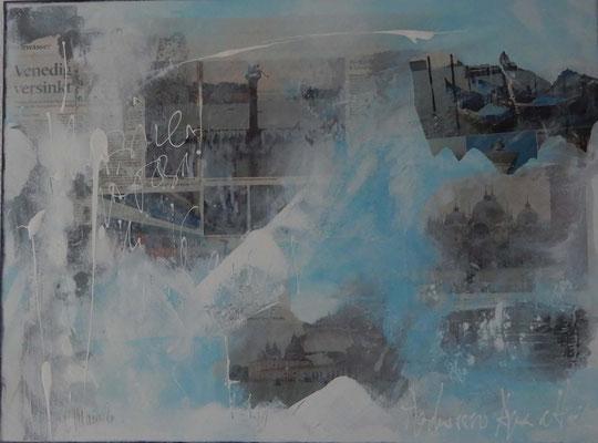 Aqua alta, 60 x80, Acrylcollage