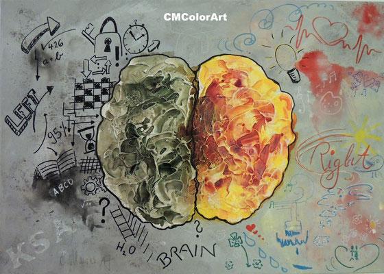 Brain, 50x70, Mix-Media
