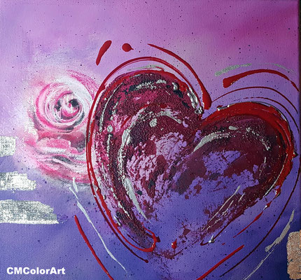 Heart for you, 30 x 30, Privatbesitz